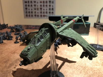 The Vulture; Painted before I started this blog. A beast with a twin punisher gatling array.