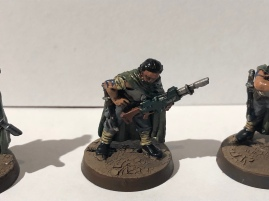 Another interesting pose, a Tanith reloading his Lasgun